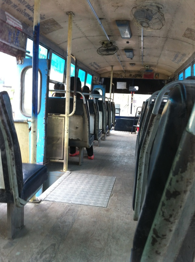 Non-airconditioned bus, with ceiling fans